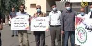 خاص بالصور والفيديو   وقفة تضامنية مع الطواقم الطبية أمام مجمع الشفاء في غزة