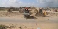 الآليات المصرية تبدأ أولي مراحل إعمار غزة