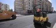 بالصور   بلدية غزة: بدء رصف شارع أبراج السعادة في حي تل الهوا